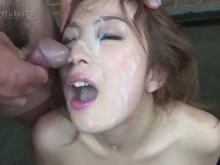 brunetă gratis, frumos deepthroat mai mult, real japonez nou