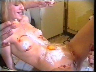 Kuum randy tšikk saama dildo ja riist keppimine anaal ja täkk getting boned poolt domina