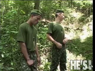 Four Soldiers Take A Hike Through The Jungle