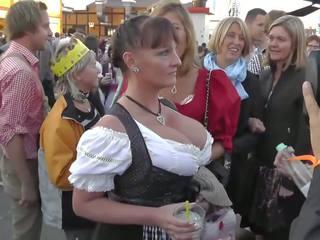 거유 성숙한 에 oktoberfest, 무료 독일의 포르노를 2b