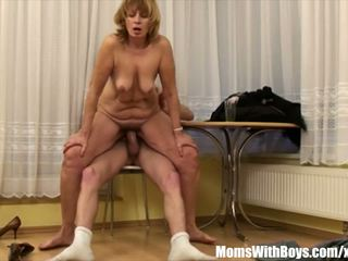 Cock Hungry Blonde Mama Fucked by Young, Porn cf
