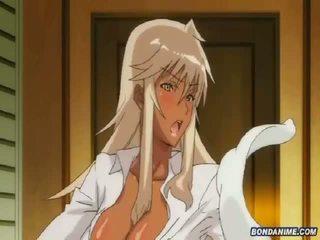 Bronzat blonda fata gets fondled