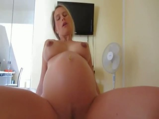 Pregnant Wife Fucked with Cum on Belly, Porn 28