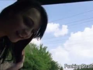 Cute Hitchhiker Teen Belle Claire Fucked Inside The Van