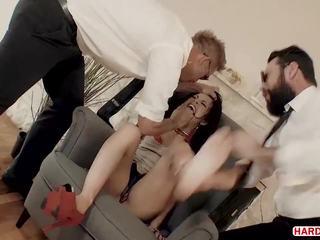 brunette mov, dubbele penetratie film, anaal