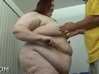 bbw, フェラチオ, 赤毛, 脂肪