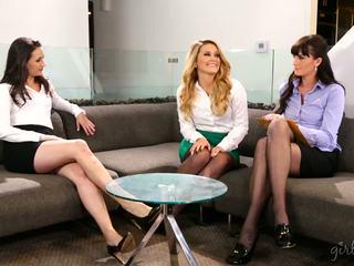 penuh lesbian baru, nyata babes, hq threesome terpanas