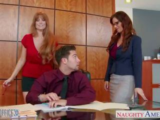 mooi paardrijden, threeway mov, kantoor porno