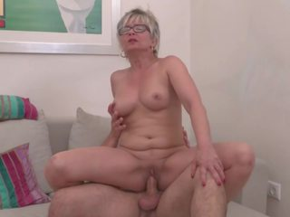 Real Mature Moms Suck and Fuck Young Sons: Free HD Porn 61