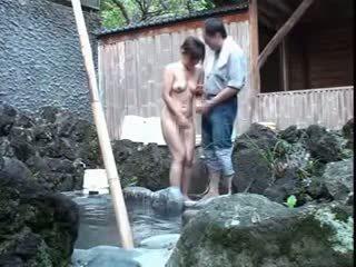 japanse, vol voyeur, een kleine tieten porno