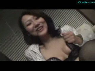 Office lady getting her tits rubbed giving blowjob for guy o