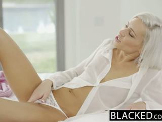 Blacked preppy 금발의 여자 친구 kacey jordan cheats 와 bbc