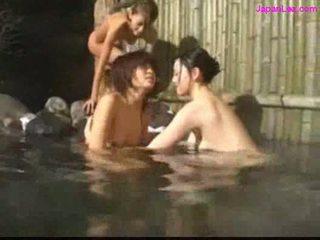 zien schattig video-, japanse actie, lesbiennes neuken