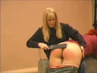 Redhead Spanked and Paddled, Free BDSM Porn e6