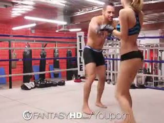 Högupplöst fantasyhd - natalia starr wrestles henne sätt till fan session