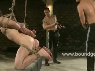 Slaves get a face of cum from Christian