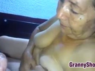 močiutė, blowjob, lotynų, pov