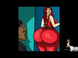 PAWG Red Haired MILF Uses Her Big Ass for Her Black Step