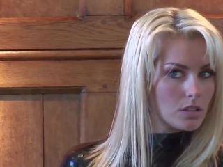 Ridiculously Hot Blonde in Black Latex Catsuit: HD Porn 8e