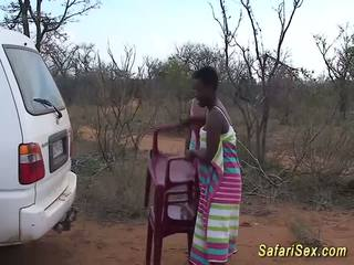野 非洲人 safari 性别 狂欢, 自由 野 性别 高清晰度 色情 33