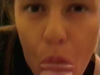 echt pijpen video-, vol cum in de mond, kwaliteit bovenop