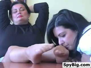 Latina Loves This Mature Womans Feet