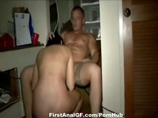 Amateur hard fucking after home party
