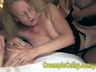 Alanna And Cathy Eat A Creampie