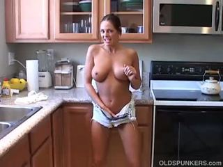 hottest brunette action, cougar thumbnail, any stacked tube