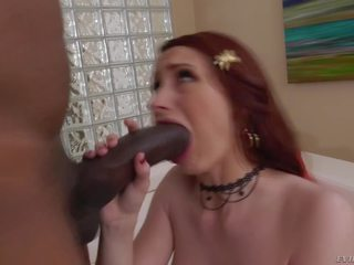Horse Sized Black Cock Stretches Violet Monroe's Holes