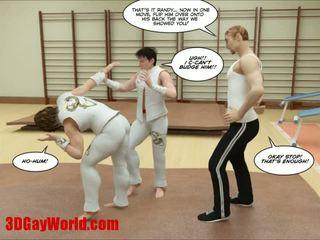 Kung fu guys 3d geý multik animated comics
