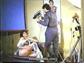Космати гръцки момичета прецака от техен boyfriends 1970s.
