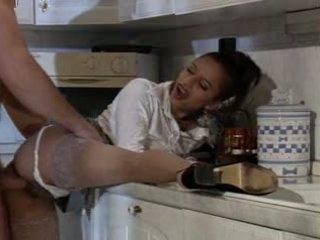 Peggy kitchen anal fun