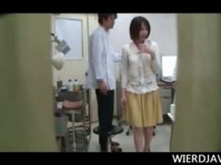 Topless Japanese Teen Girl Touched By A Horny Kinky Doctor