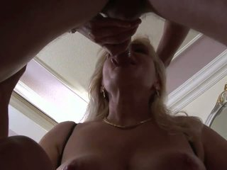 Hungry Bitch Sucks Customer& 039 S Dick in a Clothes.