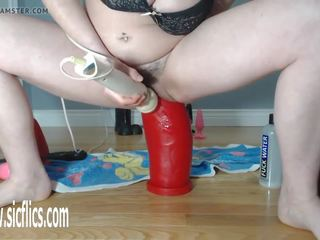 Colossal Dildo Wrecks Her Pussy, Free HD Porn c0