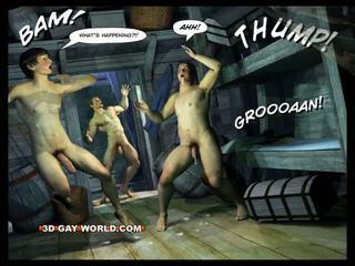 Adventures של cabin b-y תלת ממדים הומוסקסואל עולם comics