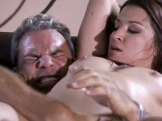 Anne Marie gobbles down a tasty nob before sliding it up her tempting twat
