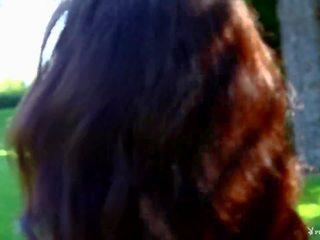 kwaliteit brunette, kaukasisch film, heet striptease