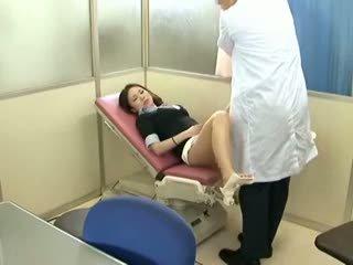 brunett, voyeur, baben, massage