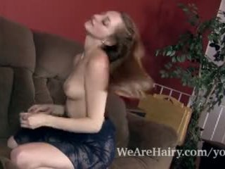 Rococo Royalle Strips and Masturbates on Her Couch