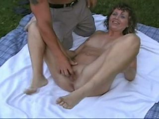 mmf, threesome, outdoor, mature amateur