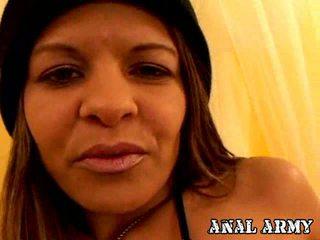 Cherry Petite Army Slut Rio Mariah Fingering Her Asshole Hard