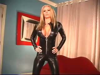 (no sound) Ashley Lawrence Black Catsuit