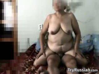 Russian Granny Secretly Filmed Fucking