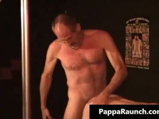 Young twiknk gay guy has fun with mature