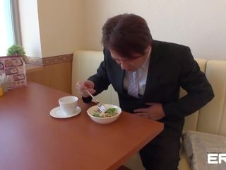 brunette actie, japanse video-, vaginale sex neuken