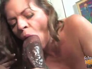 Mature June Summer fuck hard a black man
