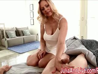 Sexy Milf Julia Ann Gives HandJob To Wake Him Up! - Porn Video 551