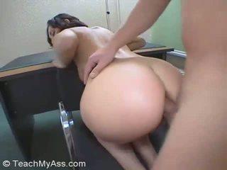 nominale neuken scène, ideaal pijpbeurt, vol anaal porno